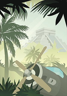 poster #1, jungle plane wreck
