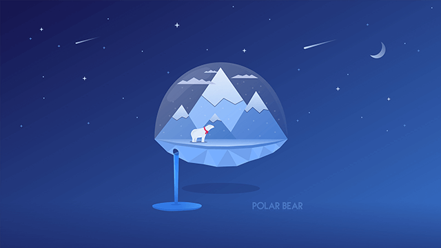 illustration polar bear